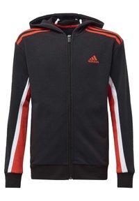 adidas Performance - BOLD FULL-ZIP HOODIE - Zip-up hoodie - black - 0