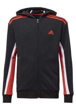 BOLD FULL-ZIP HOODIE - Zip-up hoodie - black