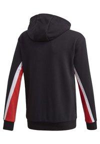 adidas Performance - BOLD FULL-ZIP HOODIE - Zip-up hoodie - black - 3