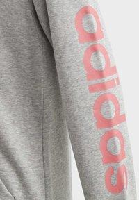 adidas Performance - LINEAR HOODIE - Felpa aperta - grey - 3