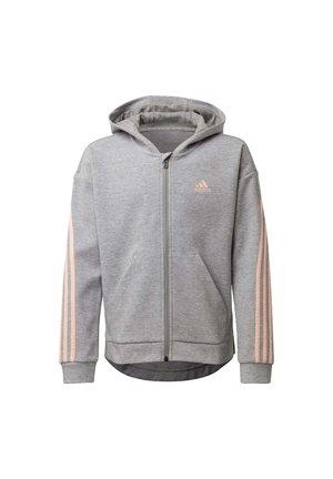 STRIPES FULL-ZIP HOODIE - Zip-up hoodie - grey
