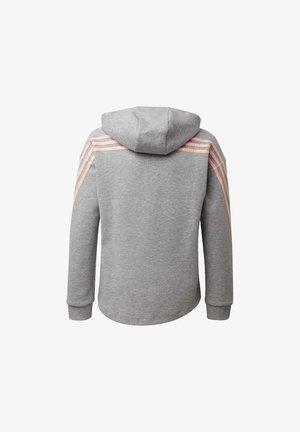 STRIPES FULL-ZIP HOODIE - veste en sweat zippée - grey