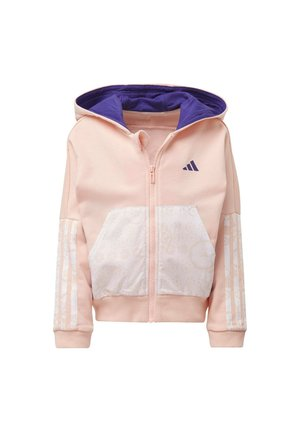 FRENCH TERRY KNIT HOODIE - Zip-up hoodie - pink