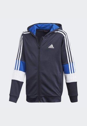 MUST HAVES AEROREADY 3-STRIPES FULL-ZIP HOODIE - veste en sweat zippée - blue