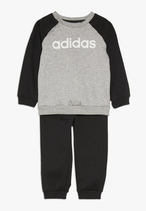 ESSENTIALS LINEAR TRACKSUIT BABY SET - Tuta - medium grey heather/black/white