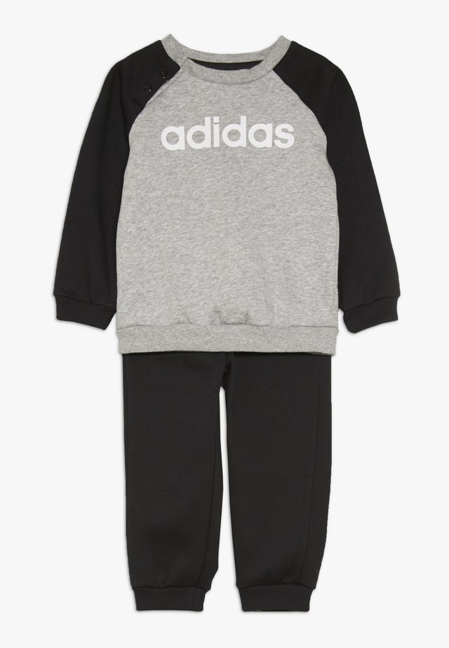 ESSENTIALS LINEAR TRACKSUIT BABY SET - Trainingspak - medium grey heather/black/white