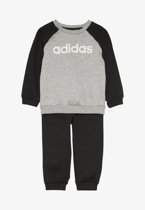 ESSENTIALS LINEAR TRACKSUIT BABY SET - Tepláková souprava - medium grey heather/black/white