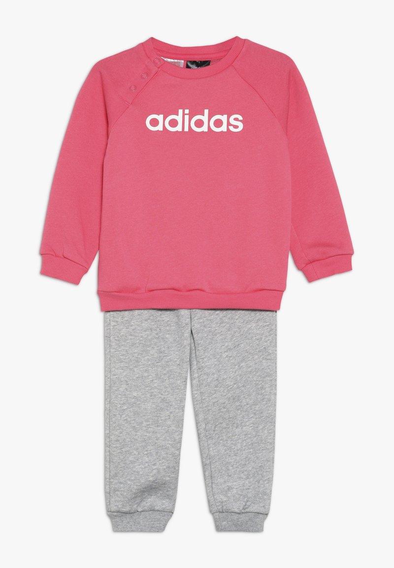 adidas Performance - I LIN JOGG - Trainingspak - pink/mottled grey/white