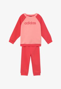 adidas Performance - ESSENTIALS LINEAR TRACKSUIT BABY SET - Survêtement - pink/light pink - 3