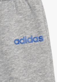 adidas Performance - ESSENTIALS LINEAR TRACKSUIT BABY SET - Tracksuit - real blue/medium grey heather/blue - 6