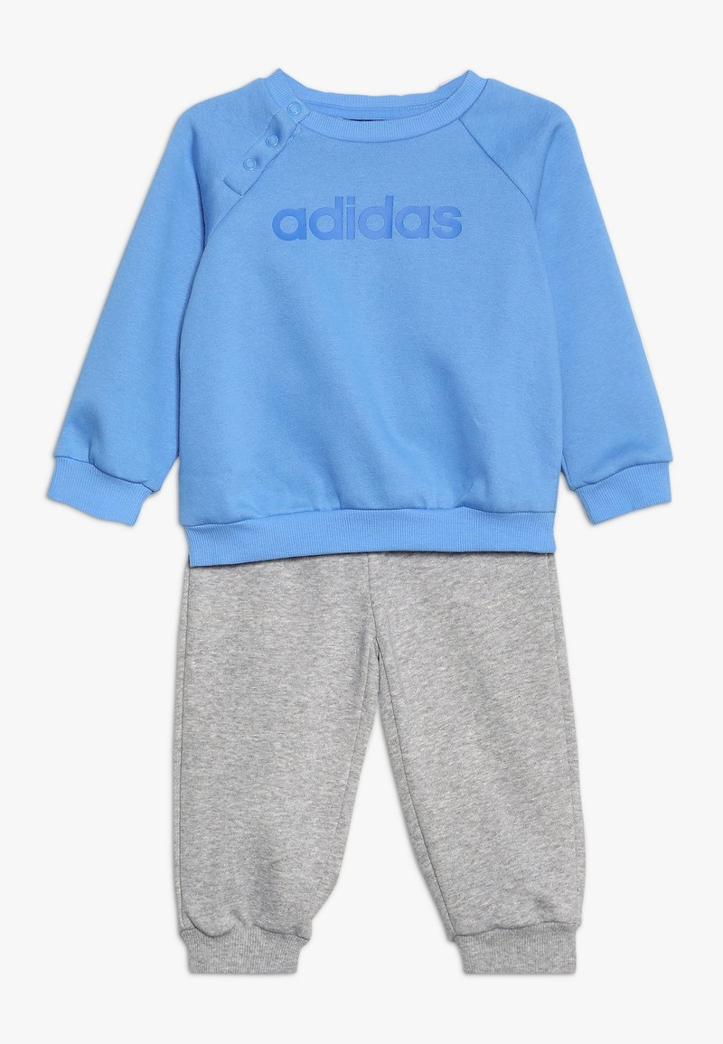 adidas Performance - ESSENTIALS LINEAR TRACKSUIT BABY SET - Tracksuit - real blue/medium grey heather/blue