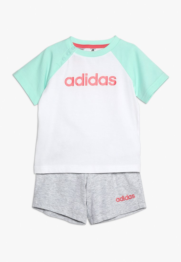 adidas Performance - SET - Sports shorts - white/clear mint/pink