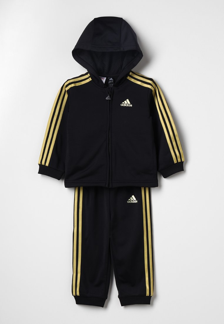 adidas Performance - SHINY - Tracksuit - black/gold metallic