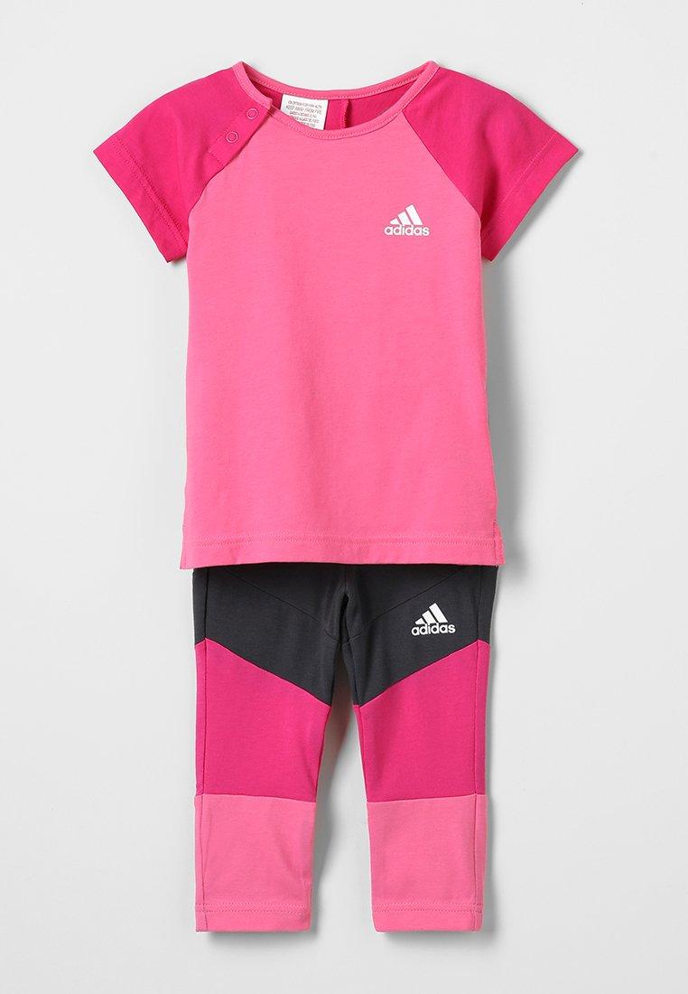 adidas Performance - TIGHT SET - Trainingsanzug - sesopk/reamag/white