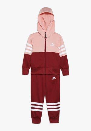 HOOD - Trainingsanzug - glow pink/active maroon/white