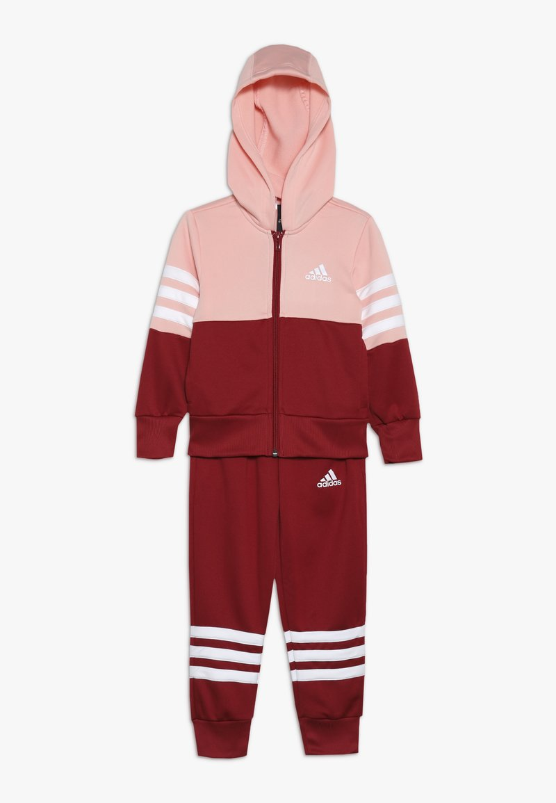 adidas Performance - HOOD - Trainingspak - glow pink/active maroon/white