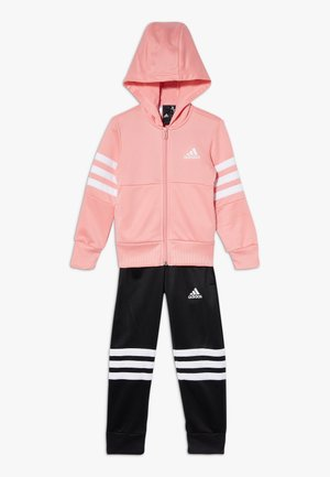 HOOD SET - Trainingspak - glow pink/white