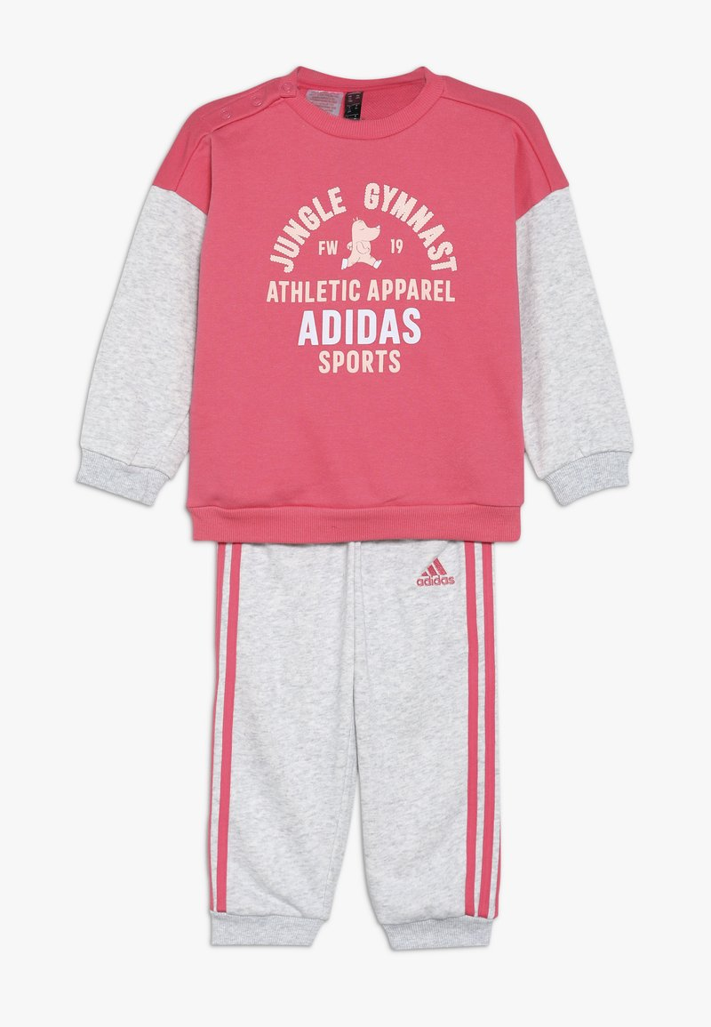 adidas Performance - I GRAPH JOG SET - Chándal - real pink/light grey heather