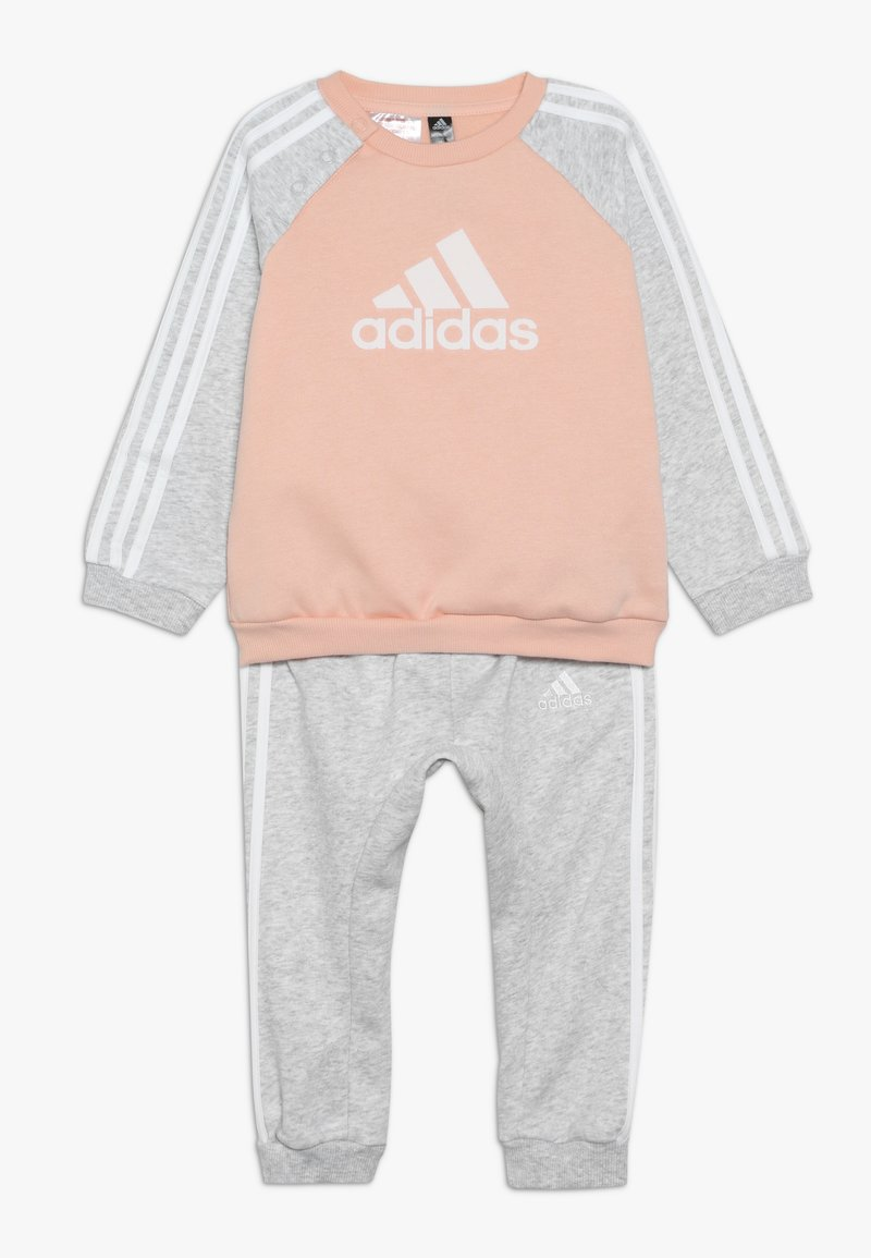adidas Performance - LOGO - Chándal - glow pink/light grey heather/white