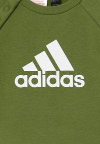 adidas Performance - LOGO - Tepláková souprava - olive/white - 4