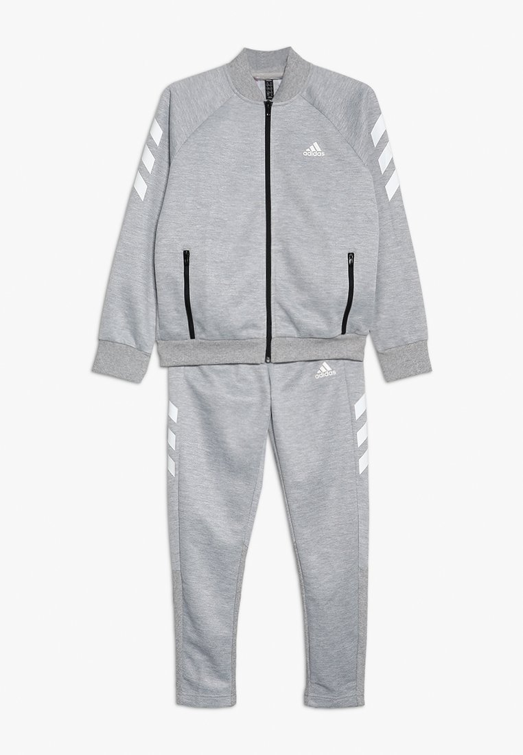 adidas Performance - SET - Trainingspak - mgreyh/white