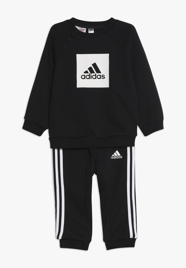 3STRIPES FRENCH TERRY TRACKSUIT BABY SET - Träningsset - black/white