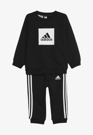 3STRIPES FRENCH TERRY TRACKSUIT BABY SET - Trainingspak - black/white