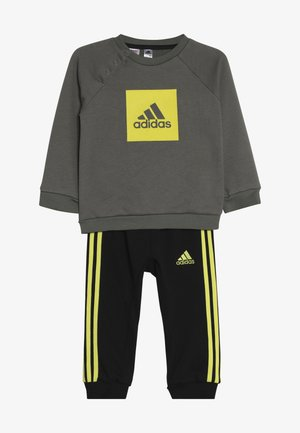 3STRIPES FRENCH TERRY TRACKSUIT BABY SET - Treningsdress - green/yellow