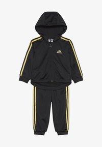adidas Performance - SHINY FULL ZIP HOODED TRACKSUIT BABY SET - Chándal - black/gold - 3