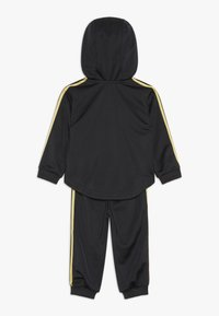 adidas Performance - SHINY FULL ZIP HOODED TRACKSUIT BABY SET - Chándal - black/gold - 1