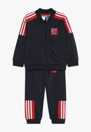 SHINY TRACKSUIT BABY SET - Tuta - legend ink/vivid red/white