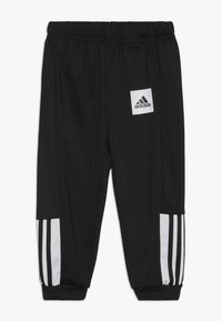 adidas Performance - SHINY TRACKSUIT BABY SET - Tuta - black/white/black - 2