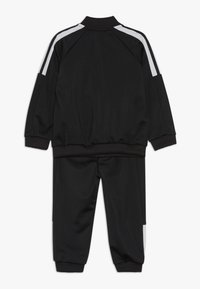 adidas Performance - SHINY TRACKSUIT BABY SET - Tuta - black/white/black - 1