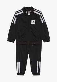 adidas Performance - SHINY TRACKSUIT BABY SET - Tuta - black/white/black - 3