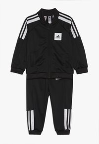 adidas Performance - SHINY TRACKSUIT BABY SET - Tuta - black/white/black - 0