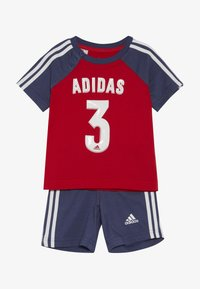 adidas Performance - SPORT SUMMER TRACKSUIT BABY SET - Tracksuit - vivred/tecind/white - 3