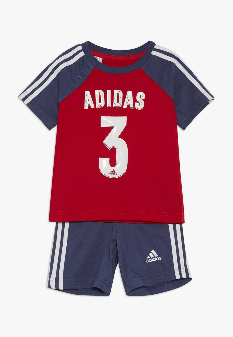 adidas Performance - SPORT SUMMER TRACKSUIT BABY SET - Tracksuit - vivred/tecind/white