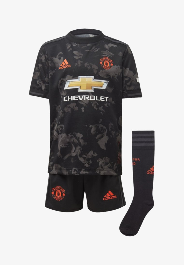 adidas Performance - MANCHESTER UNITED THIRD MINI KIT - Sports shorts - black
