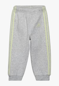 adidas Performance - LOGO FULL ZIP HOODED TRACKSUIT BABY SET - Chándal - pink/yellow - 2