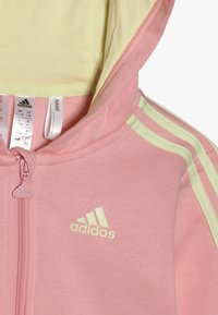 adidas Performance - LOGO FULL ZIP HOODED TRACKSUIT BABY SET - Chándal - pink/yellow - 6