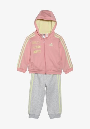 LOGO FULL ZIP HOODED TRACKSUIT BABY SET - Tracksuit - pink/yellow