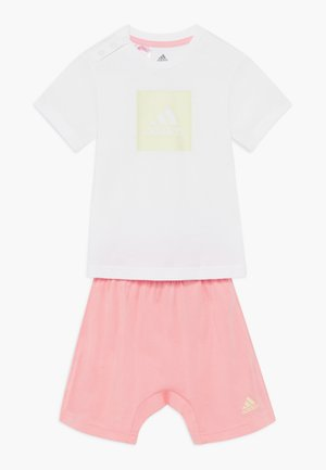 LOGO SUMMER TRACKSUIT BABY SET - Tuta - white/yellow