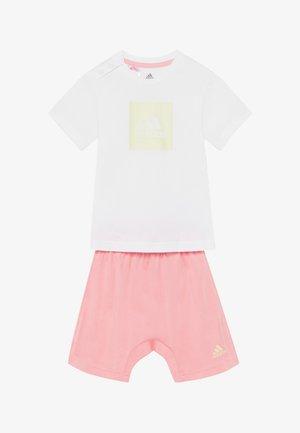 LOGO SUMMER TRACKSUIT BABY SET - Tuta - white/yellow