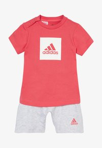 adidas Performance - LOGO SUMMER TRACKSUIT BABY SET - Tuta - core pink/white - 4