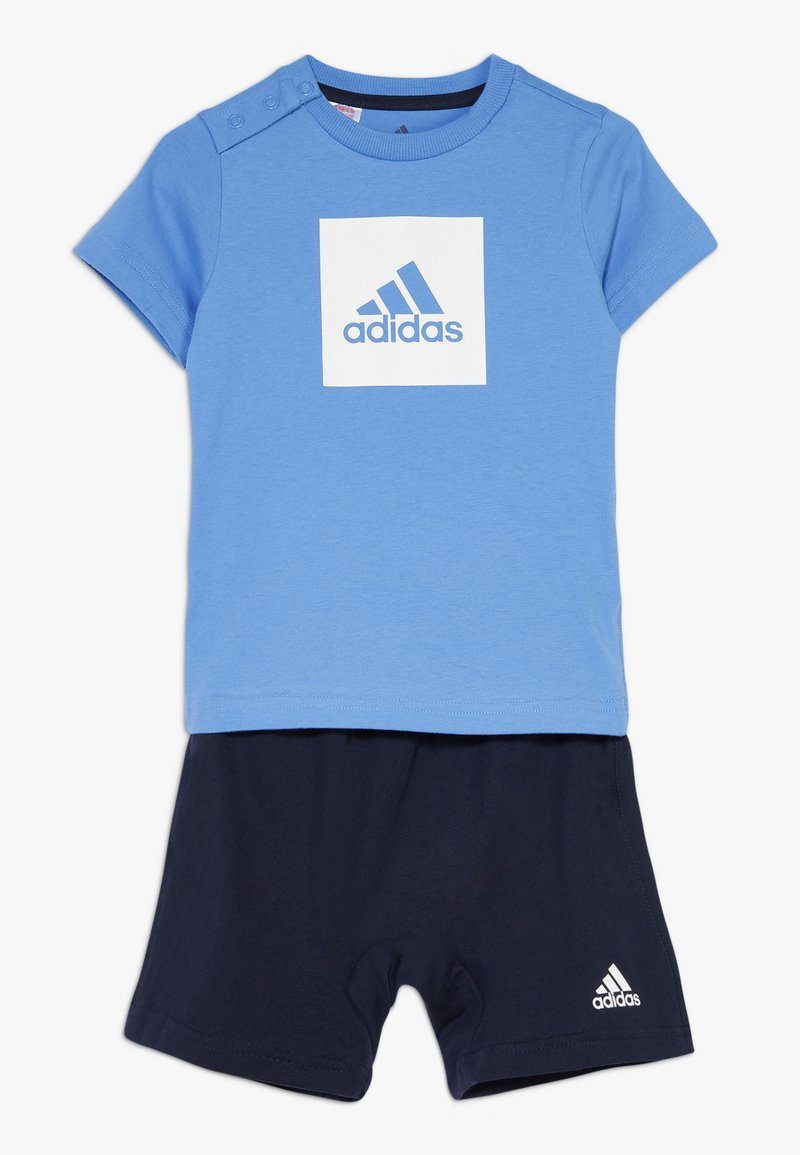adidas Performance - LOGO SUMMER TRACKSUIT BABY SET - Survêtement - lucblu/white