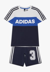adidas Performance - ATHLETICS SHORT SLEEVE TRACKSUIT BABY SET - Tepláková souprava - white/conavy - 0