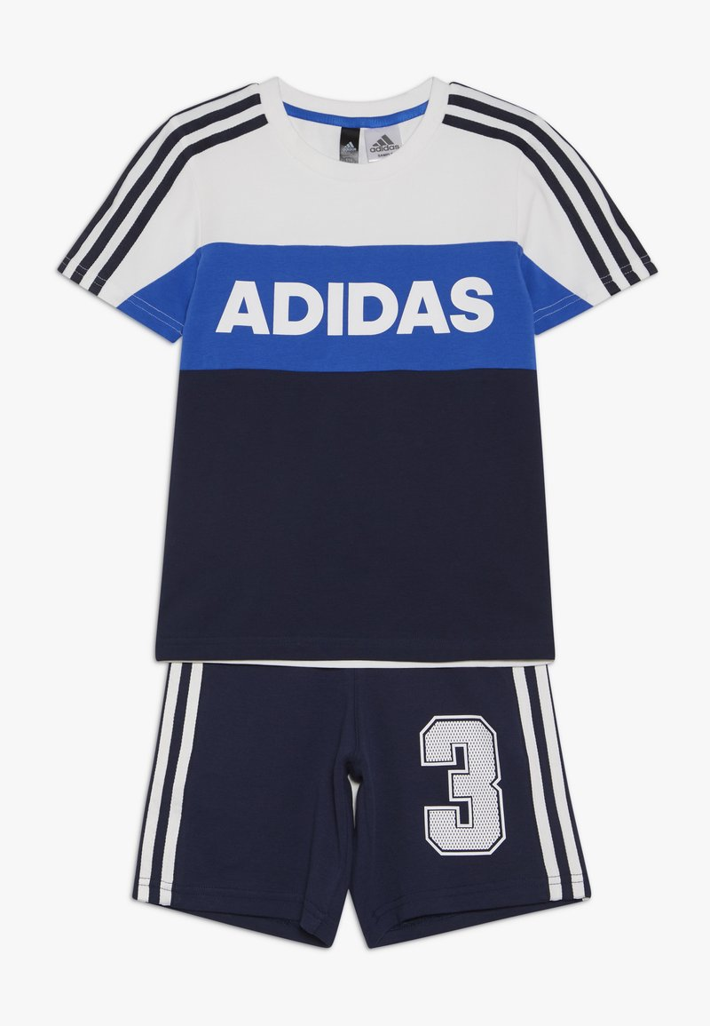 adidas Performance - ATHLETICS SHORT SLEEVE TRACKSUIT BABY SET - Tepláková souprava - white/conavy