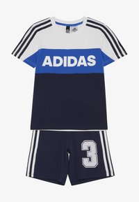 adidas Performance - ATHLETICS SHORT SLEEVE TRACKSUIT BABY SET - Tepláková souprava - white/conavy - 3