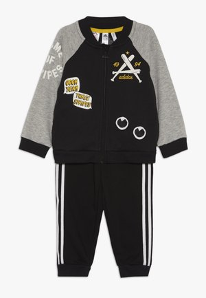 COLLEGIATE TRACKSUIT BABY SET - Verryttelypuku - black/medium greyh/white