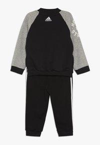 adidas Performance - COLLEGIATE TRACKSUIT BABY SET - Tepláková souprava - black/medium greyh/white - 1